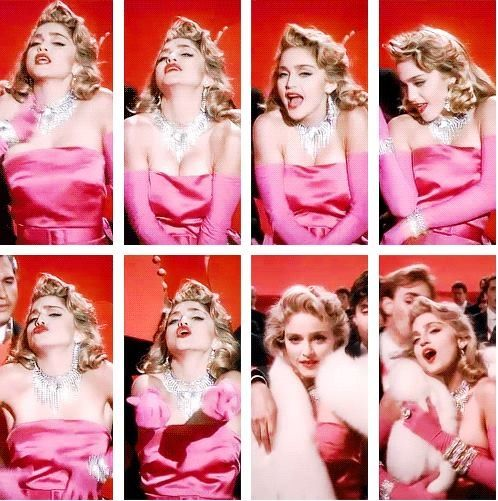 Madonna In Material Girl Video Madonna Material Girl Madonna