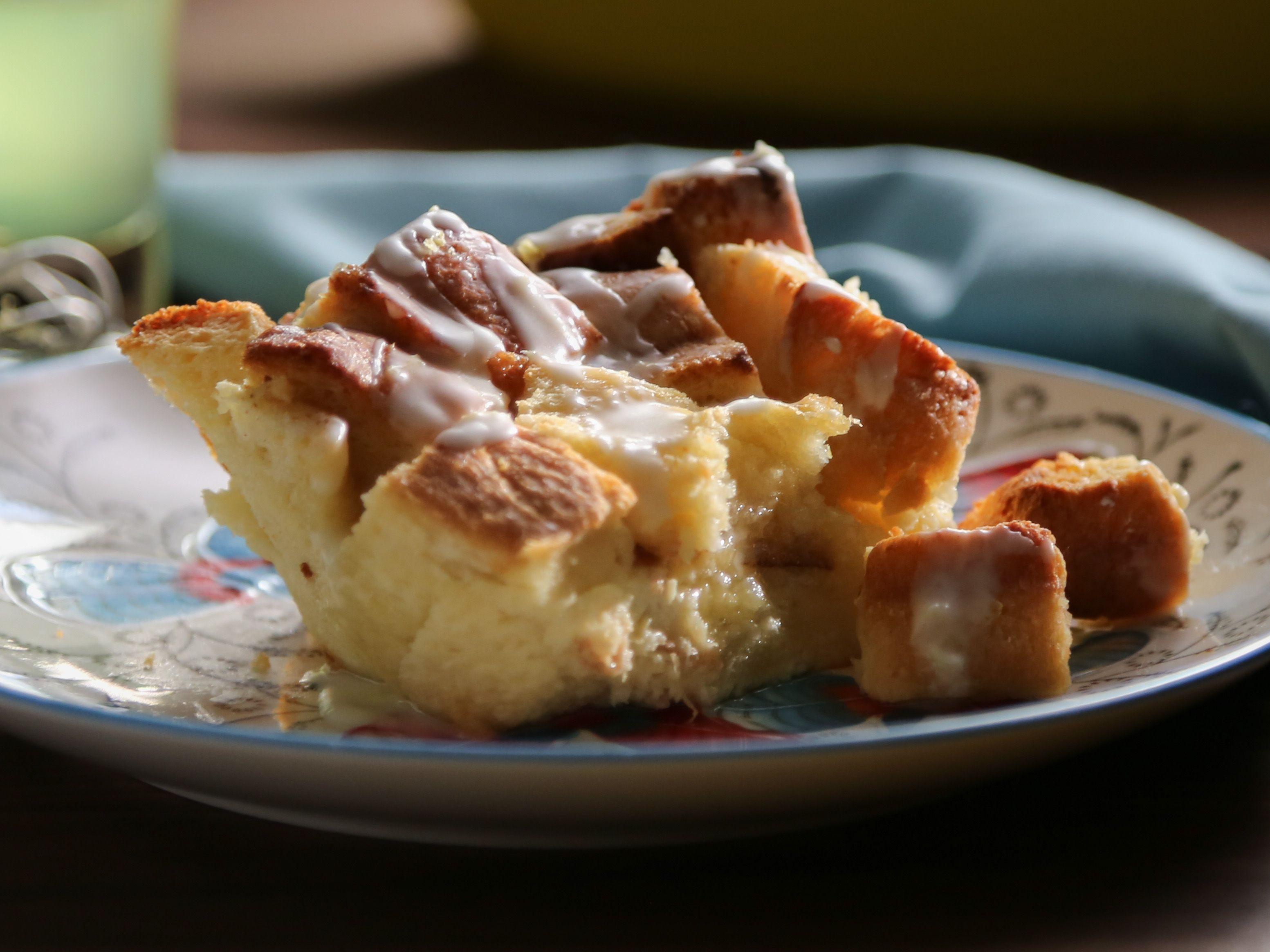 Challah Bread Pudding With Limoncello Recipe Food Network Recipes Desserts Limoncello Recipe