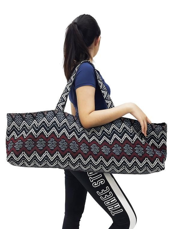 Handmade Yoga Mat Bag Sports Bags Woven Cotton Yoga Bag Tote Yoga Sling Bag Pilates Bag Pilates Mat Bag Canvas Bag Women Yoga Bag Yb198