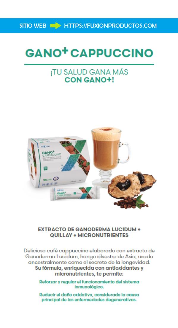 Ganomas Capuccino Fuxion Capuccino Saludable Con Beneficios Del Ganoderma Comprar Online Fuxion Sistema Inmune Circulacion Sanguinea
