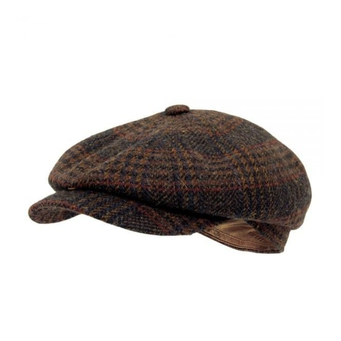 c7ef0b13b4f Stetson Hatteras Woolrich Brown Wool Cap 6840404 262 1920s Mens Hats