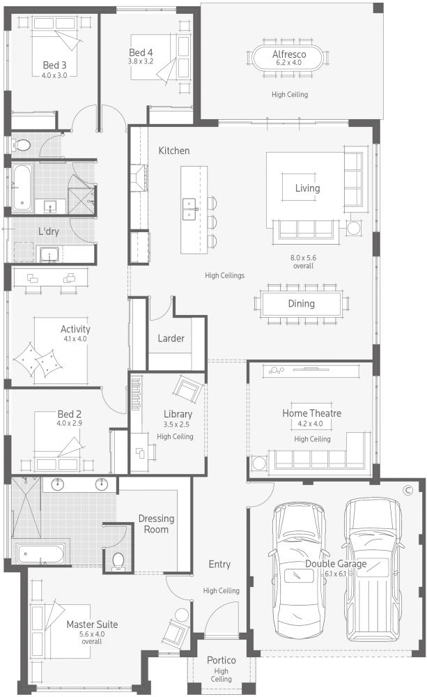 Affinity I Display Homes In 2020 Dream House Plans Home Design Floor Plans Floor Plans