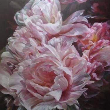 "Saatchi Art Artist Marcella Kaspar; Painting, "" Marcella Kaspar_Awakening_106x106cm_oil on linen _2011_SOLD__www.catherienasquithgallery.com.au"" #art"