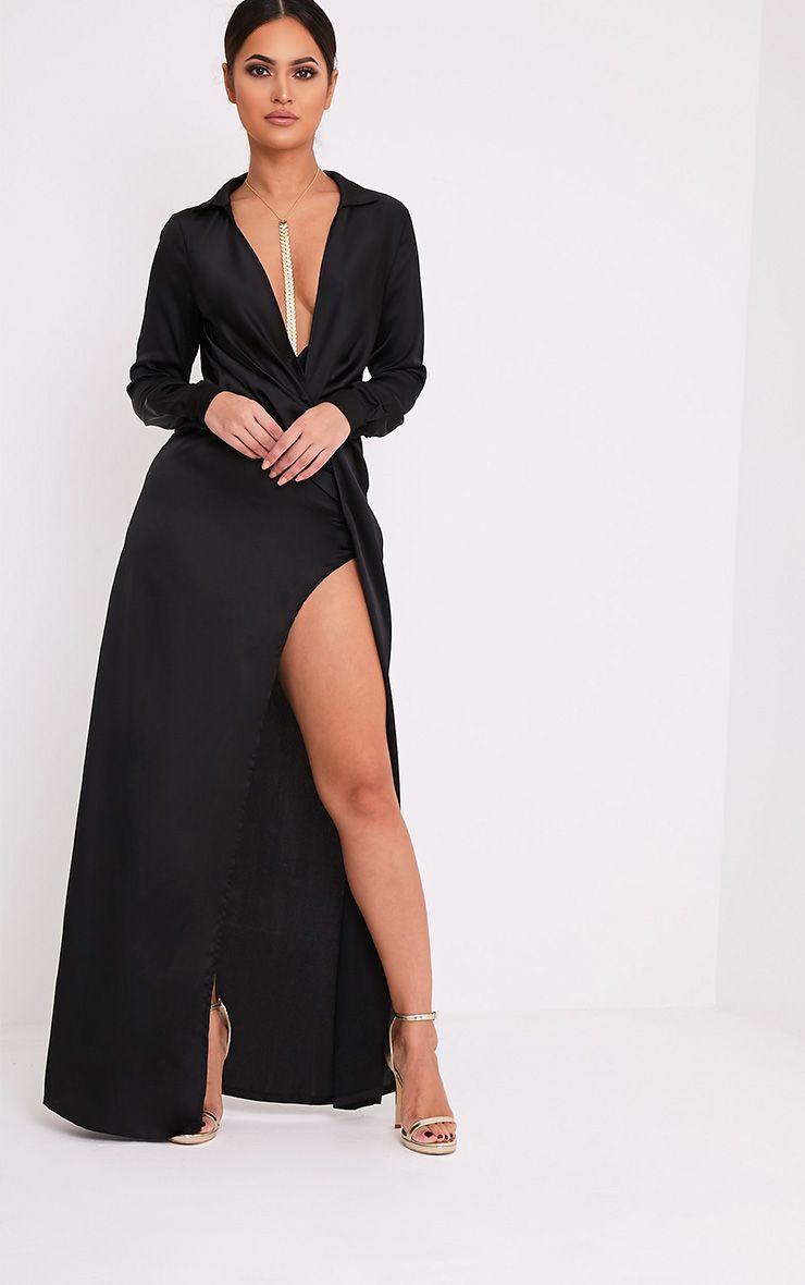 Cheap maxi shirt dress