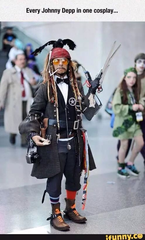 Johnny Depp Multi Character Cosplay Let S Get Geeky Cosplay