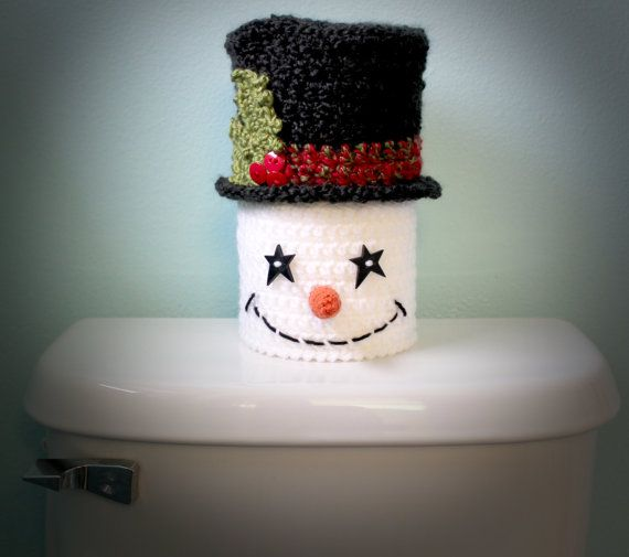 Phenomenal Crochet Santa Toilet Seat Cover Pattern And Snowman Version Ocoug Best Dining Table And Chair Ideas Images Ocougorg