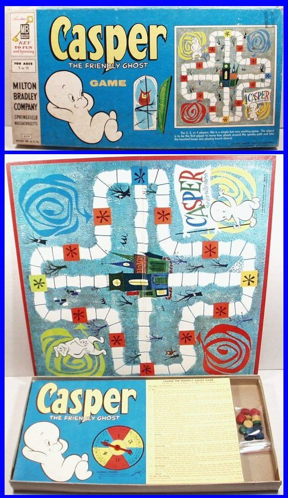 Vintage 1959 CASPER The Friendly Ghost Board Game by