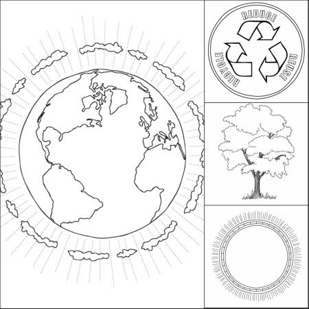 Earth Day Coloring Page | PreK Earth Day | Pinterest | Kind
