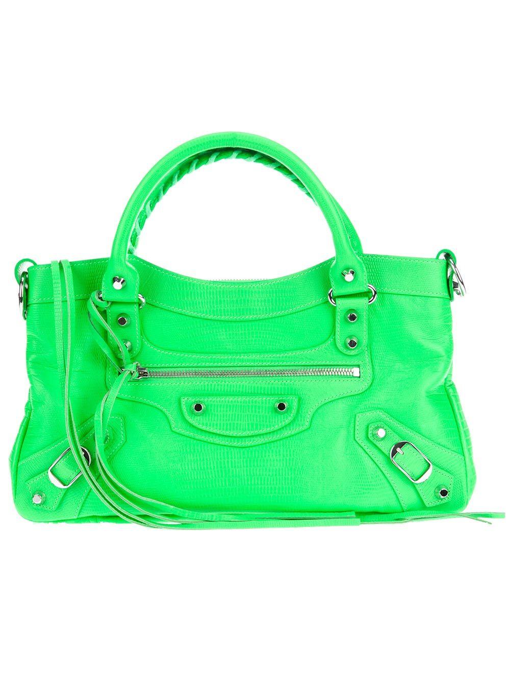 Neon Balenciaga bag | Balenciaga bag