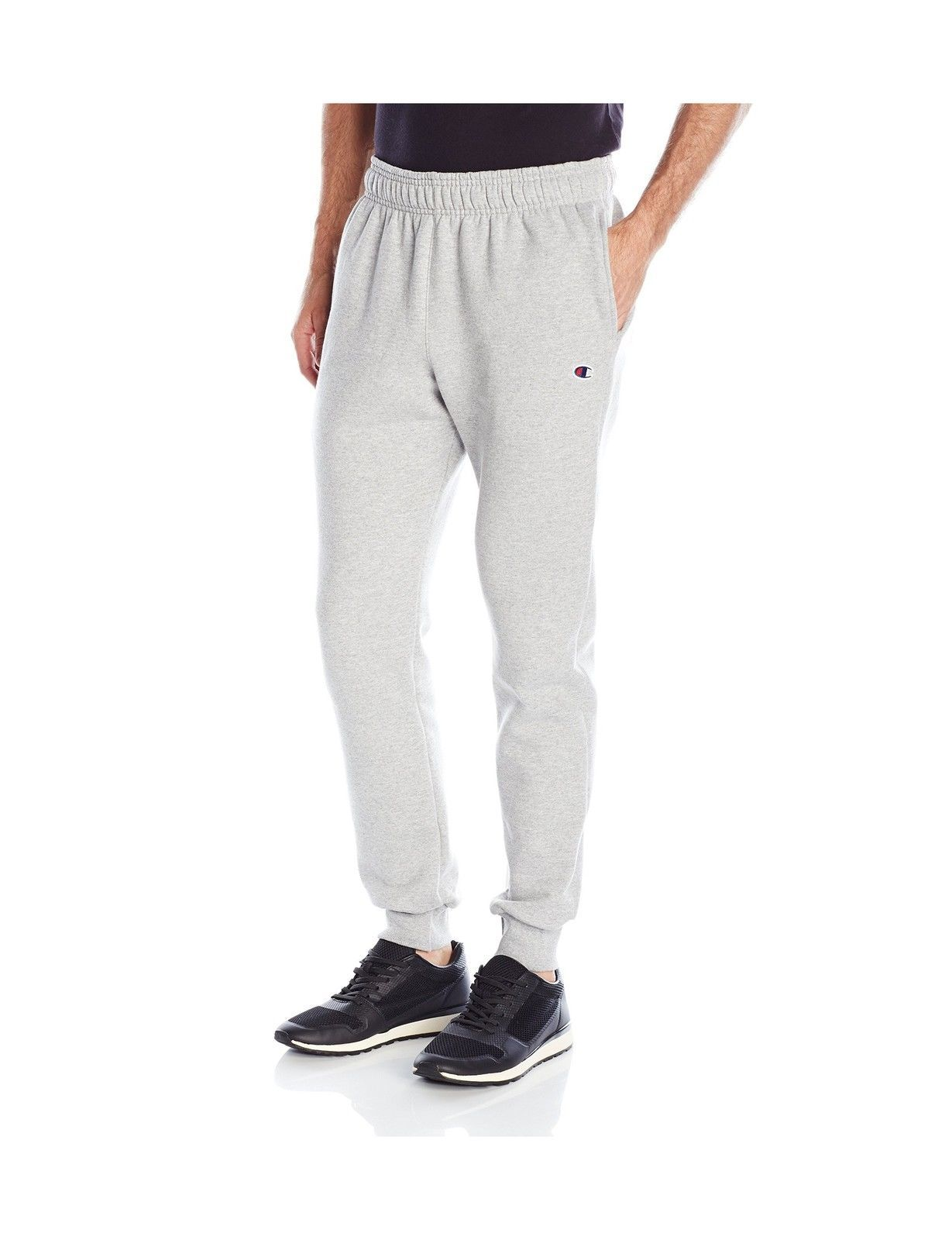 5d9628f961038 Champion Mens Powerblend Retro Fleece Jogger Pant Oxford Gray X-Large