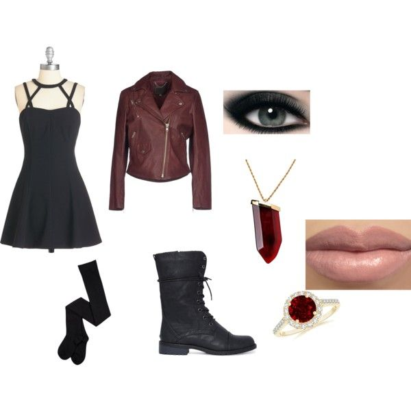 I am the Scarlet Witch by izza-choudhry on Polyvore featuring MuuBaa and Kenneth Jay Lane