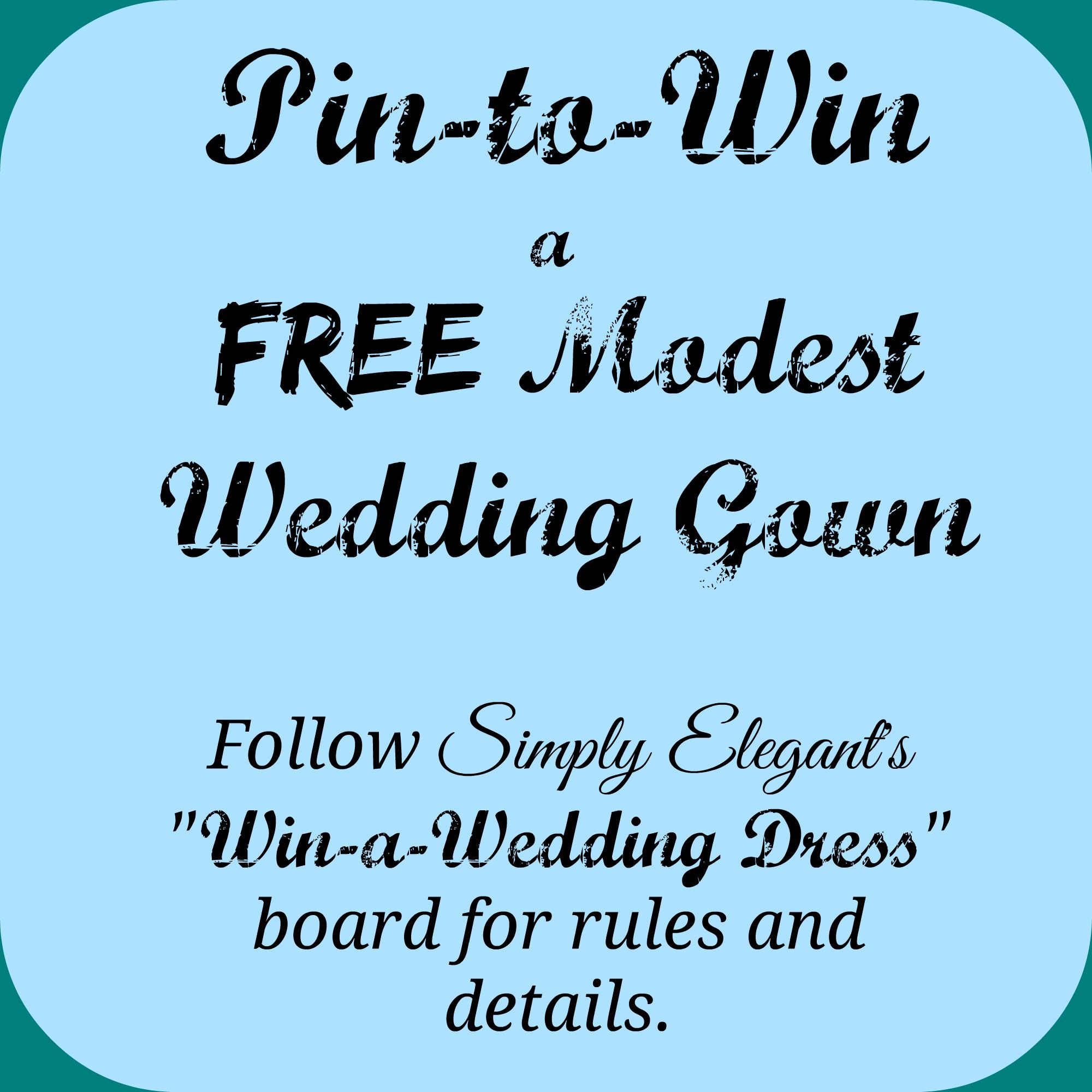 Pin-to-Win a Free #Modest Wedding Gown!! | Increase your winning ...