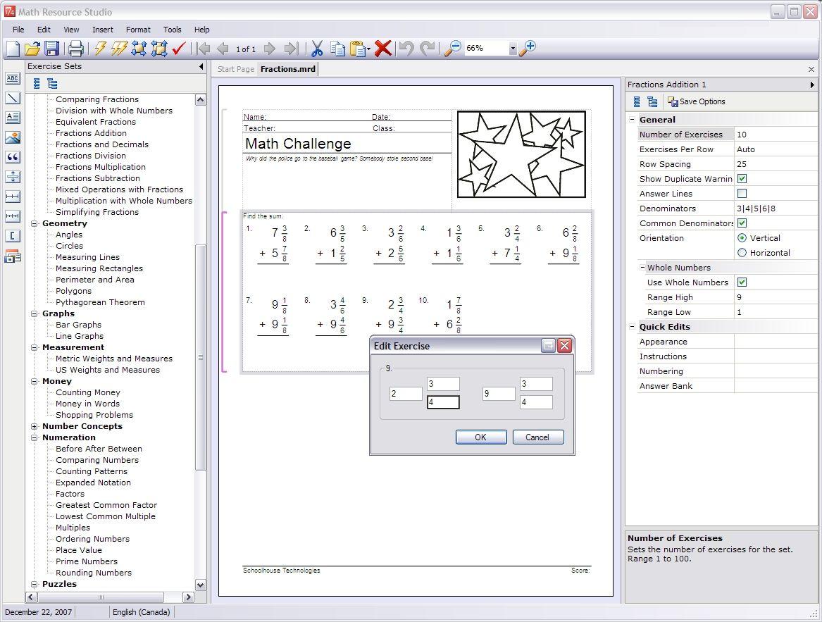 Math Worksheet Maker For Teachers Math Resource Studio Math Printable Math Worksheets Math Resources
