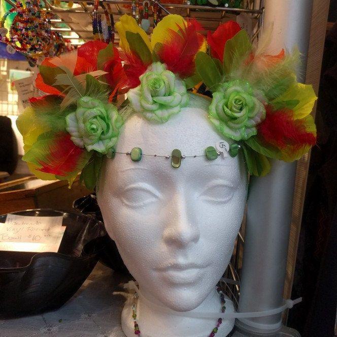 Rasta Flower Crown • EDM • Costume • Outfit • Headband • Carabana ... 53b138f7992