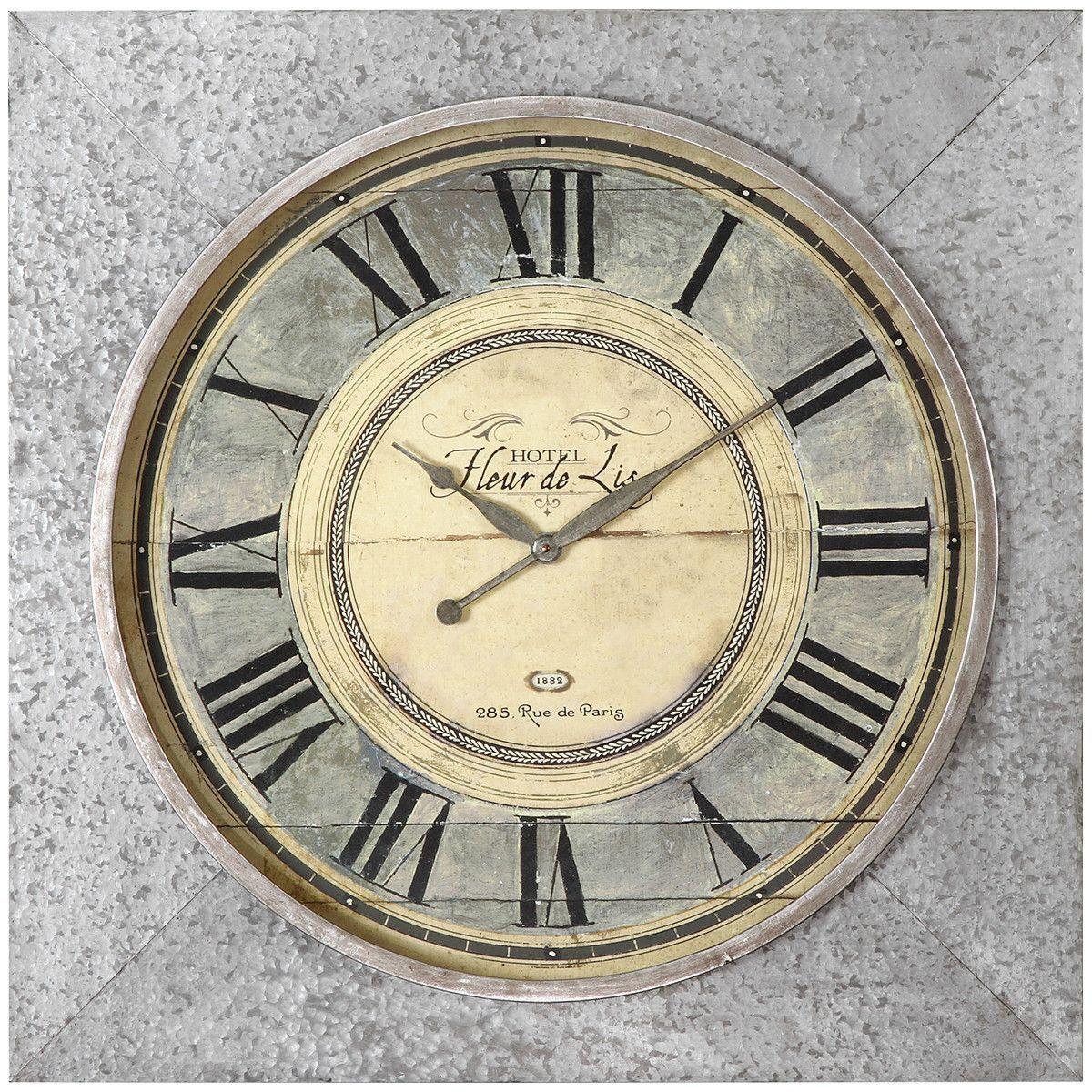 Uttermost Rue De Paris Square Wall Clock
