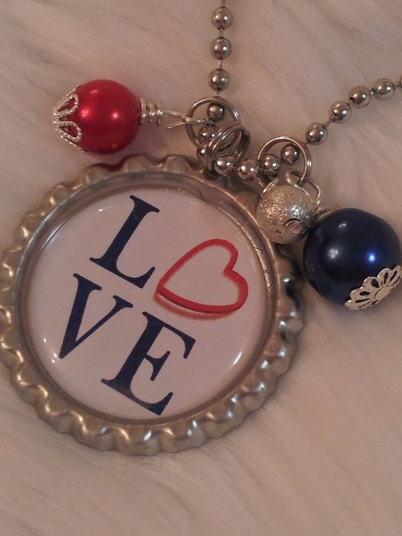 LOVE keychain LOVE necklace Valentines Day Under 20 by HAZELCOVE, $15.00