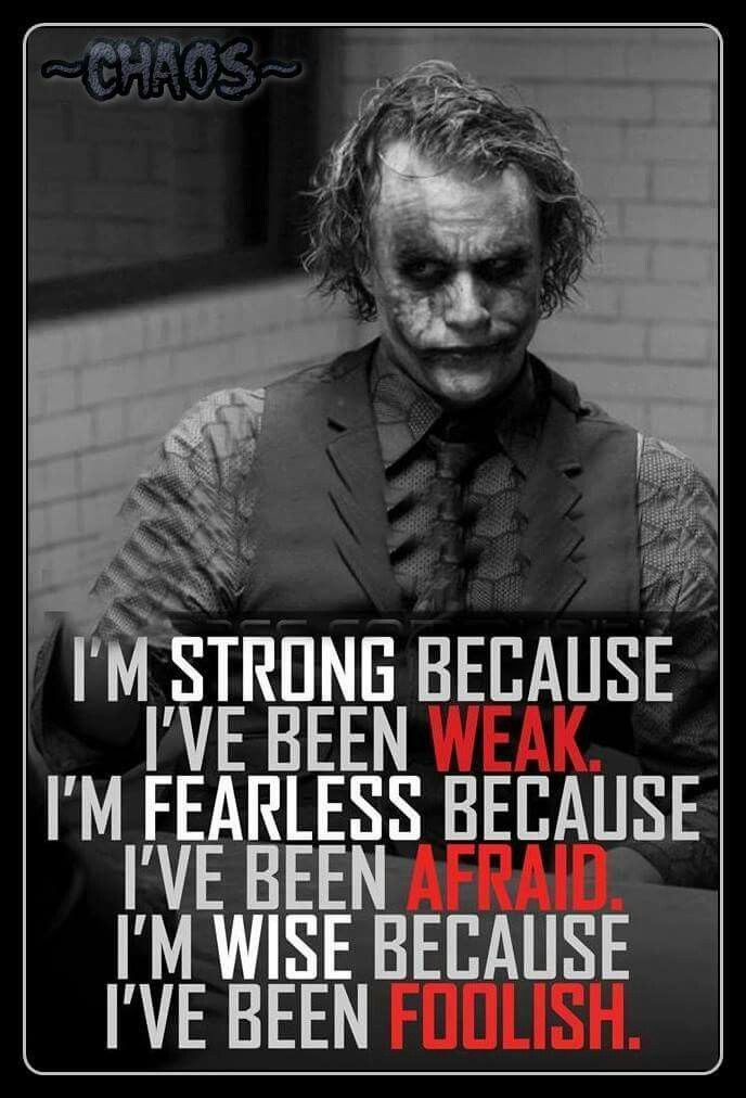Joker Quotes Yepyou Learn From Your Mistakes Good Thinking  Pinterest
