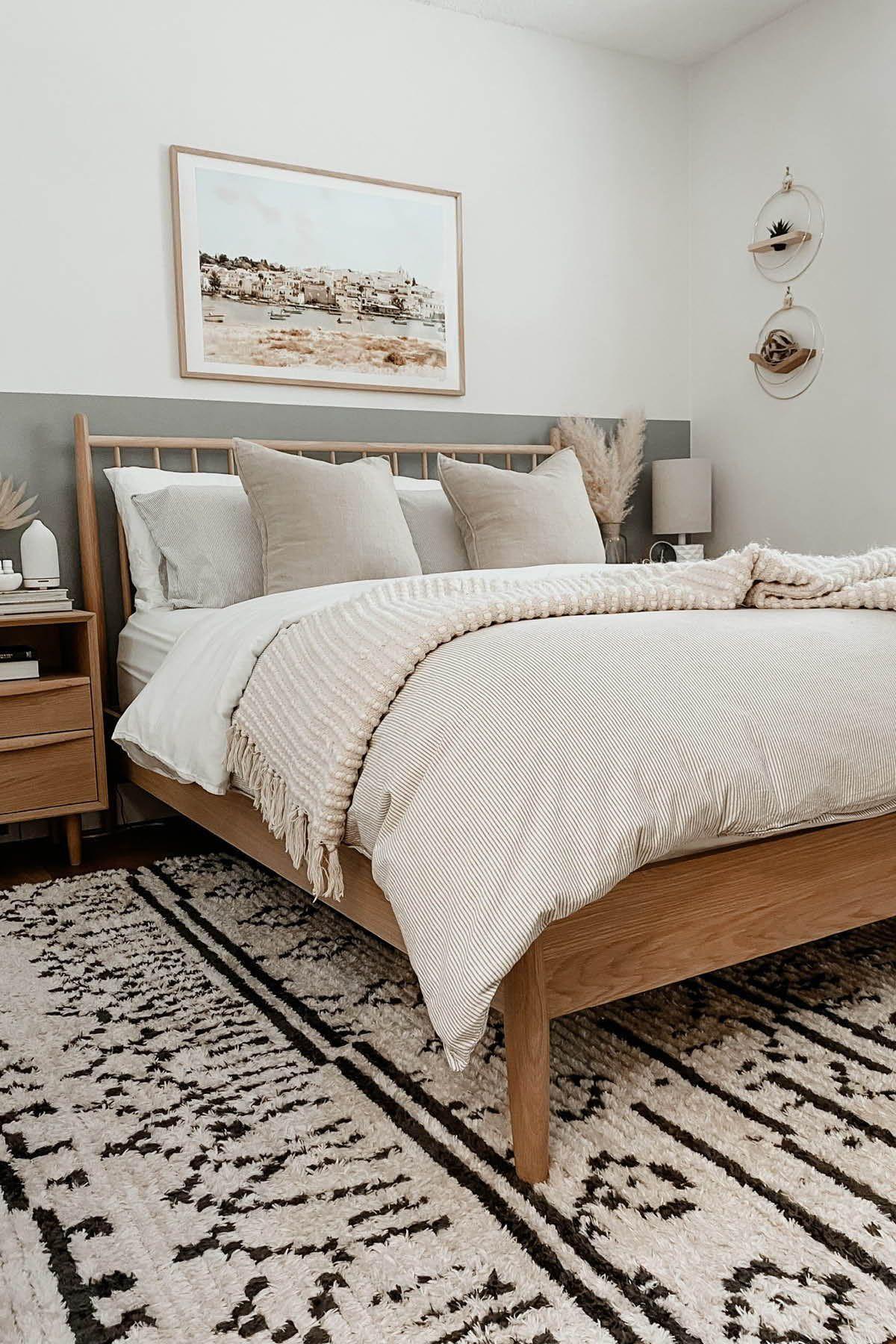 Lenia White Oak Queen Bed In 2021 Cozy Master Bedroom Wall Panels Bedroom Adjustable Bed Frame Bedroom ideas white oak