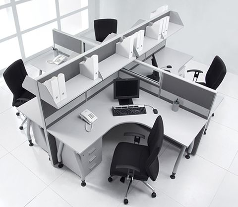 White Office Furniture Work Stations White Office Furniture Office Interiors Home Office Design