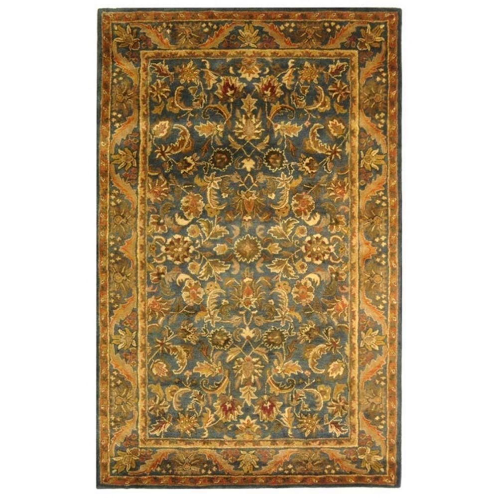 Safavieh Antiquity Olive Gold 10 Ft X 14 Ft Area Rug At52a 10 The Home Depot Wool Area Rugs Rugs Area Rugs