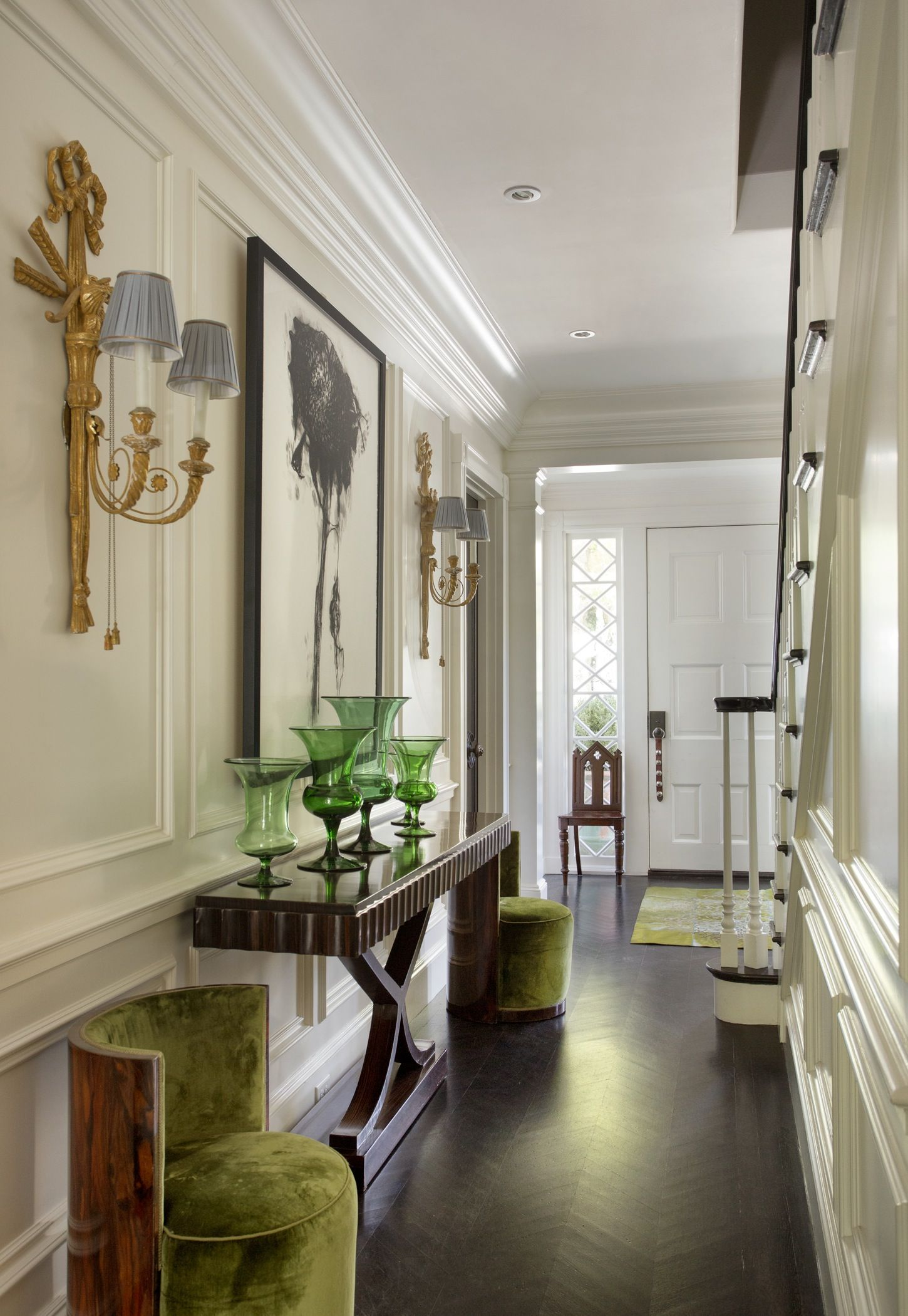 Contemporary hallway ideas  Entry in Harvard Square with Herringbone Floors by Kristin Paton
