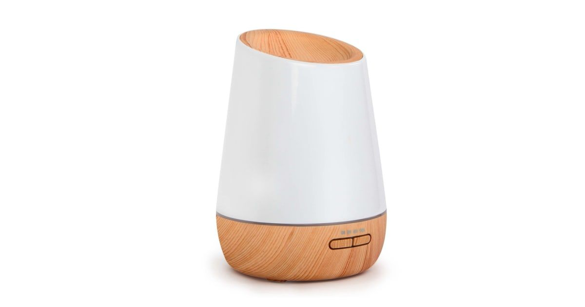 4b8f800e490 4 in 1 Ultrasonic Aroma Diffuser Round 500ml (Light Wood) in 2019 ...