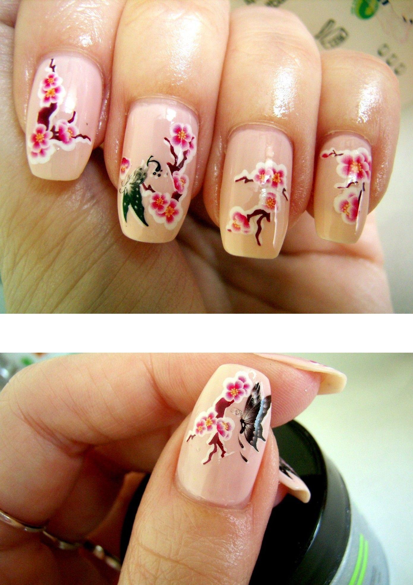 Pretty Sakura Nails! <3   ♫ - - Nails - - ♫   Pinterest   Manicure ...