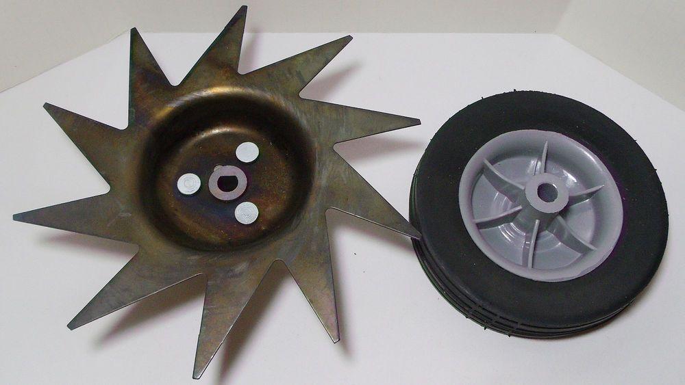 Mantis Tiller Edger Blade & Wheel Attachments - NEW / Never Used