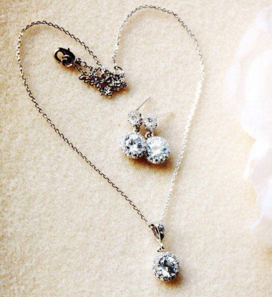 Delicate Bridal Jewelry Set Petite Bridesmaid Gift Set Minimalist