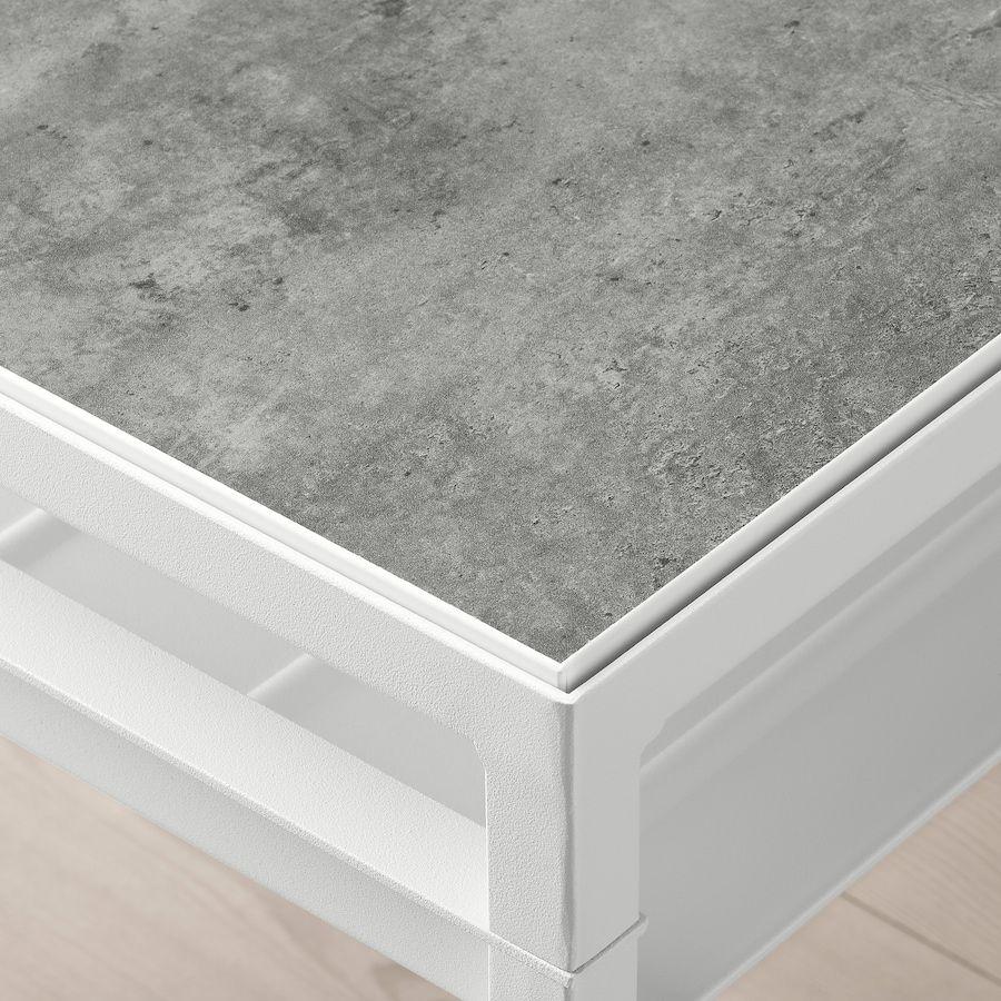 Nyboda Mesa De Apoio C Tampo Reversivel Cinz Clr Efeito Betao Branco 40x40x60 Cm Ikea In 2021 Table Top Lighting Ikea Side Table Table Top [ 900 x 900 Pixel ]