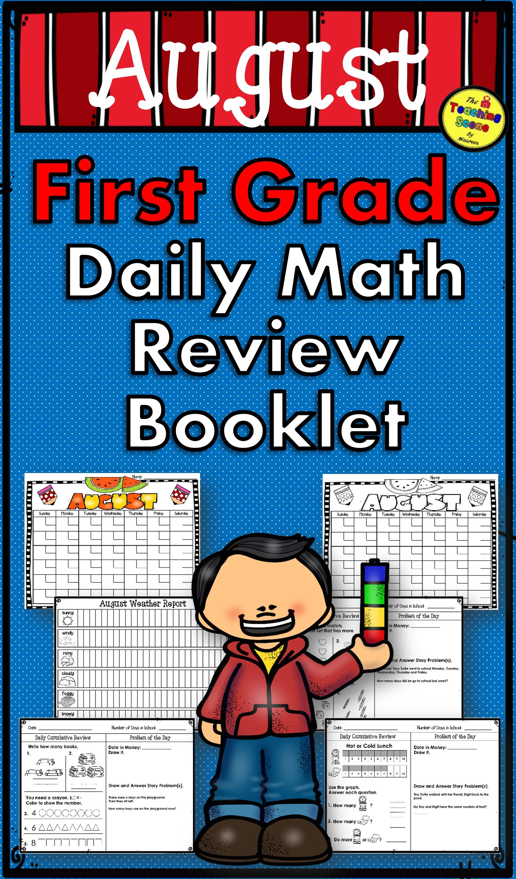 First Grade Daily Calendar And Math Review Booklet For