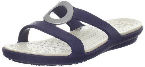 Crocs Womens Sanrah T-Strap Sandal,Nautical Navy/Stucco,4 M US crocs,http://www.amazon.com/dp/B005D6BJZG/ref=cm_sw_r_pi_dp_431Qrb1Q2CE1QSP4