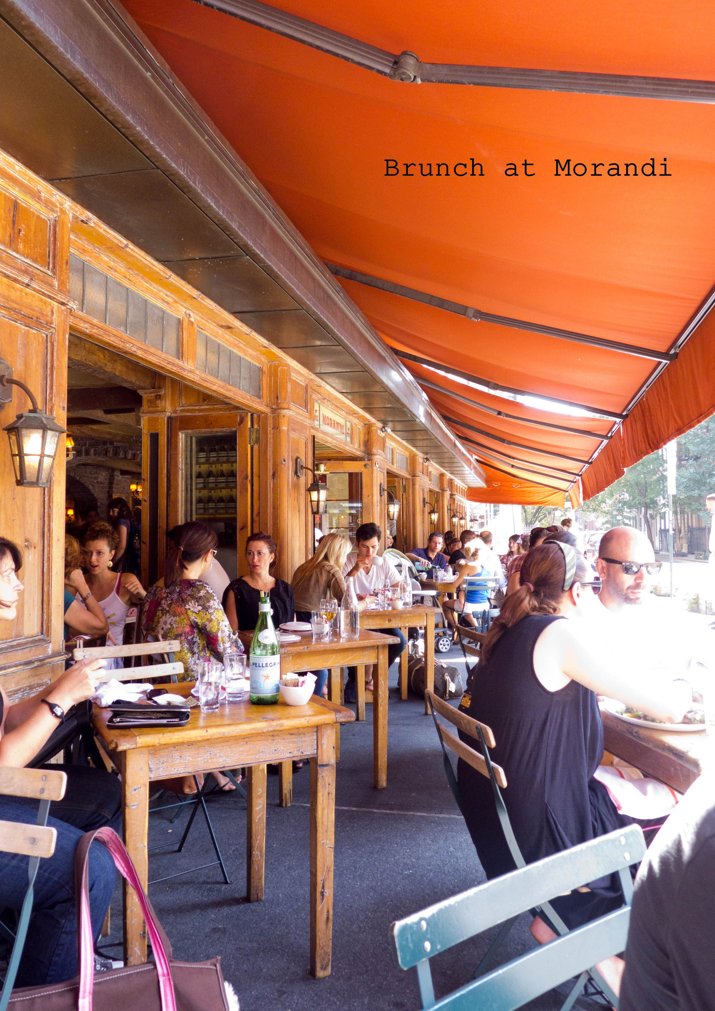 Outside Brunch at Morandi NYC Food worth taking a trip for