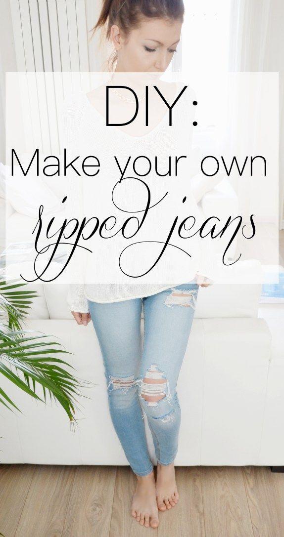 die besten 25 how to make ripped jeans ideen auf pinterest zerrissene jeans stil. Black Bedroom Furniture Sets. Home Design Ideas