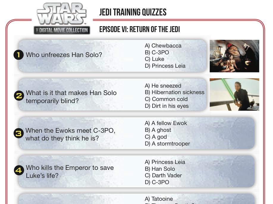 Star Wars Movie Trivia Quiz Star wars Pinterest Movie trivia