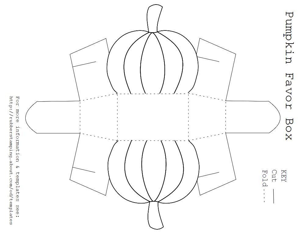 Free Printable Pumpkin Favor Box Template | Box templates, Template ...