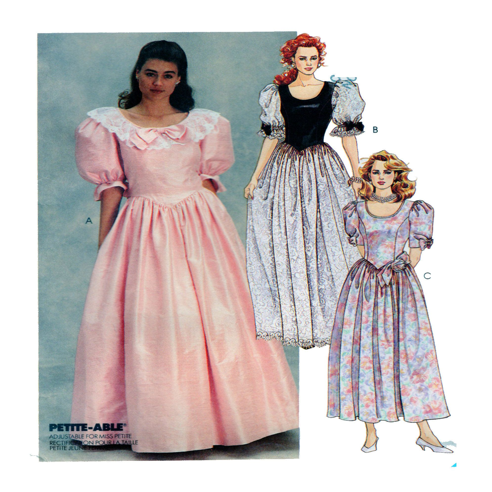 Mccalls 4694 special event gown princess seam round