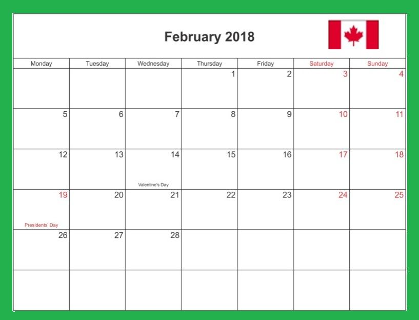 February  Excel Word Pdf Calendar Download  Calendar
