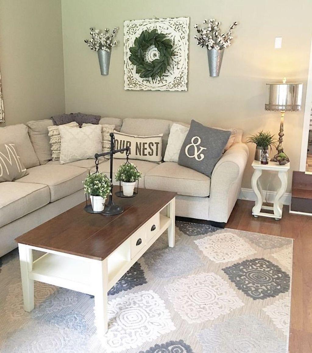 30 Glamour Farmhouse Home Decor Ideas On A Budget In 2020 Farmhouse Decor Living Room Farm House Living Room