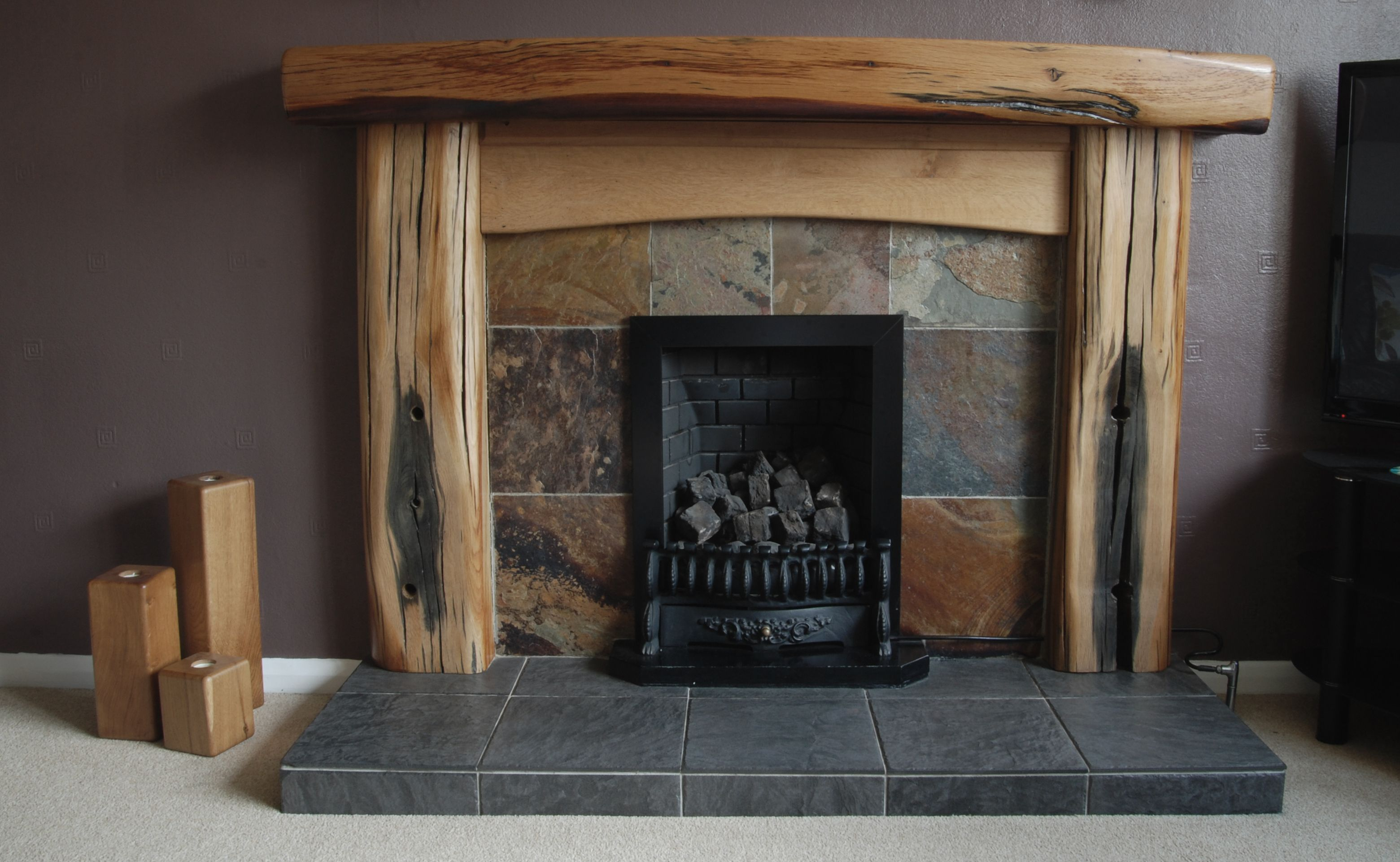 Fire Surrounds Chunky Oak Designs Fabulous Oak Creations From Reclaimed Timbers Oak Fire Surround Fireplace Surrounds Fireplace