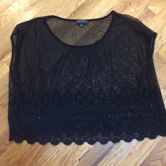 Sheer top! EUC! Fits more like a crop top! Forever 21 Tops