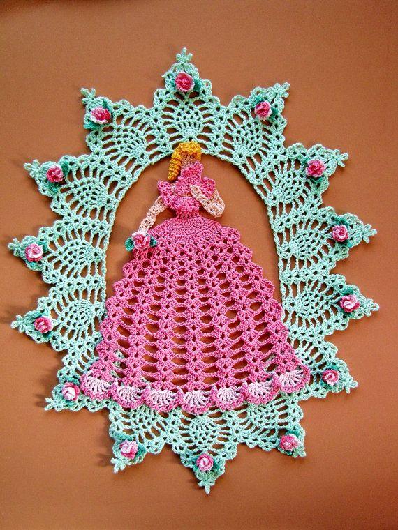 PDF Crochet Pattern- More Vintage Floral Doilies- Five Different ...