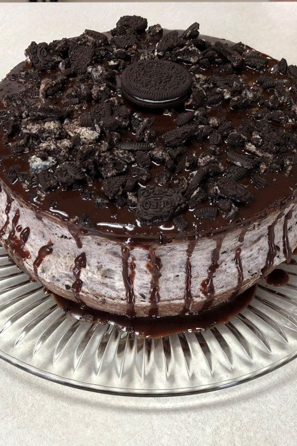 ChocolateCovered OREO Cookie Cake is part of Desserts -  Be warned According to readers, if you serve this delectable treat as a birthday cake, you'll be starting a tradition  One that's going to be tough to break