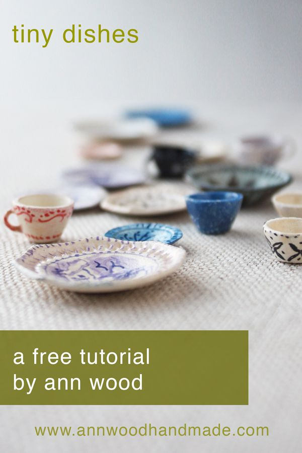 miniature dish tutorial : make tiny teacups and plates