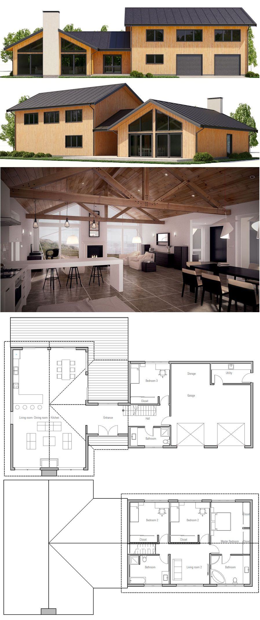 Neat Plan Masterbed Room Upstairs With 2 More Bedrooms 1 Mainfloor