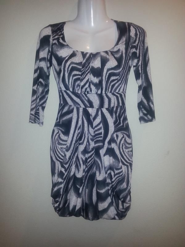 SEXY BEAUTIFUL NEW WITH TAGS LONG SLEEVE MINI DRESS FORMAL CLUB WEAR BLACK GREY #Handmade #Maxi #Clubwear