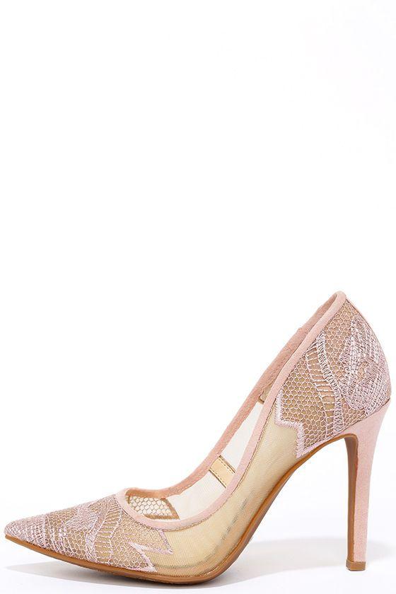 db1638d1b42 Jessica Simpson Camba Nude Blush Lace Pumps | Shoes, Shoes, Shoes ...