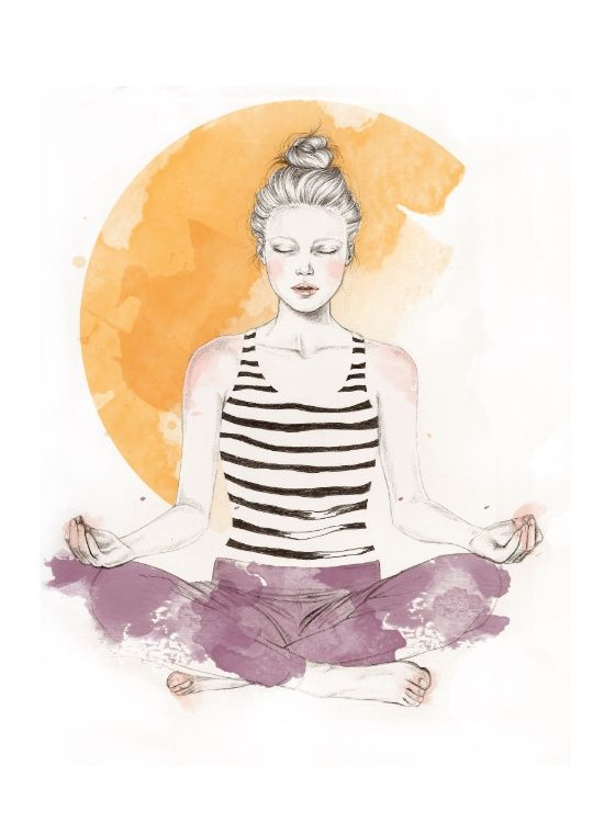 original yoga painting omwoman yoga meditate. Love This Beautiful Yoga And Meditation Print. Original Painting Omwoman Meditate Z