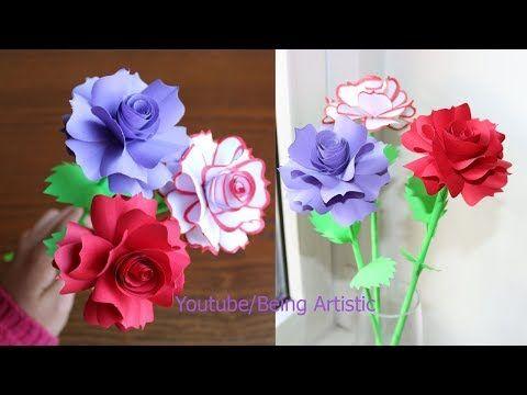 How to make paper rose flower diy handmade craft paper craft how to make paper rose flower diy handmade craft paper craft youtube mightylinksfo