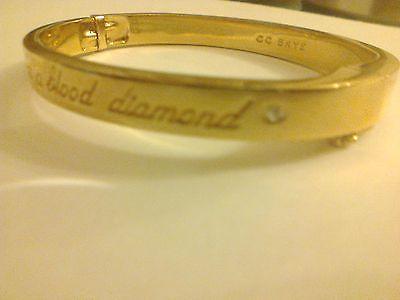 CC SKYE GOLD COLOURED DIAMOND BRACELET/BANGLE THIS IS NOT A BLOOD DIAMOND - http://designerjewelrygalleria.com/cc-skye/cc-skye-gold-coloured-diamond-braceletbangle-this-is-not-a-blood-diamond/